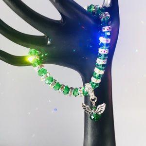 🎁NWT Green Swarovski Sterling Silver Bracelet